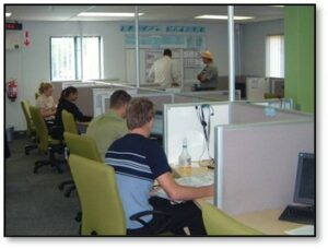 Call centre team spot example